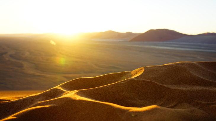 【ナミビア ナミブ砂漠】ナミブ砂漠の美しい赤。その成り立ちについて。