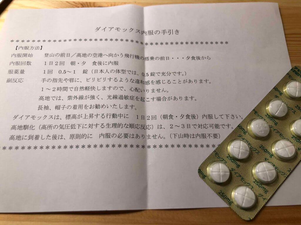 IMG 5397 1024x768 - 高山病予防・治療薬 ダイヤモックスを東京で安価に入手できる場所