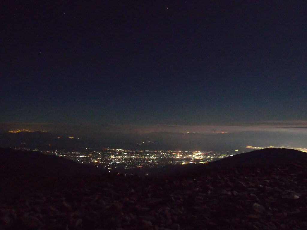 P9150417 1024x768 - 【燕岳-大天井岳-常念岳-蝶ヶ岳 縦走録(5)】蝶ヶ岳で見た最高の夕景