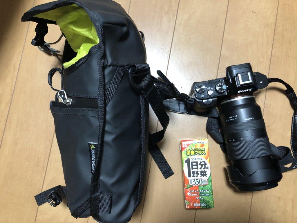IMG 7773 1024x768 - リュックと併用するカメラバッグ。登山・バックパッカーにとって使いやすいのは?パーゴワークス「フォーカス」のレビュー