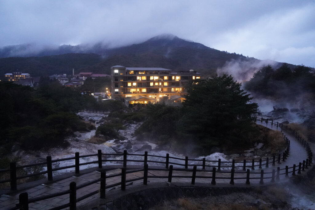 DSC00412 1024x683 - 【熊本・長崎旅6】島原半島の雲仙の温泉宿を満喫して雲仙に登ってみた話